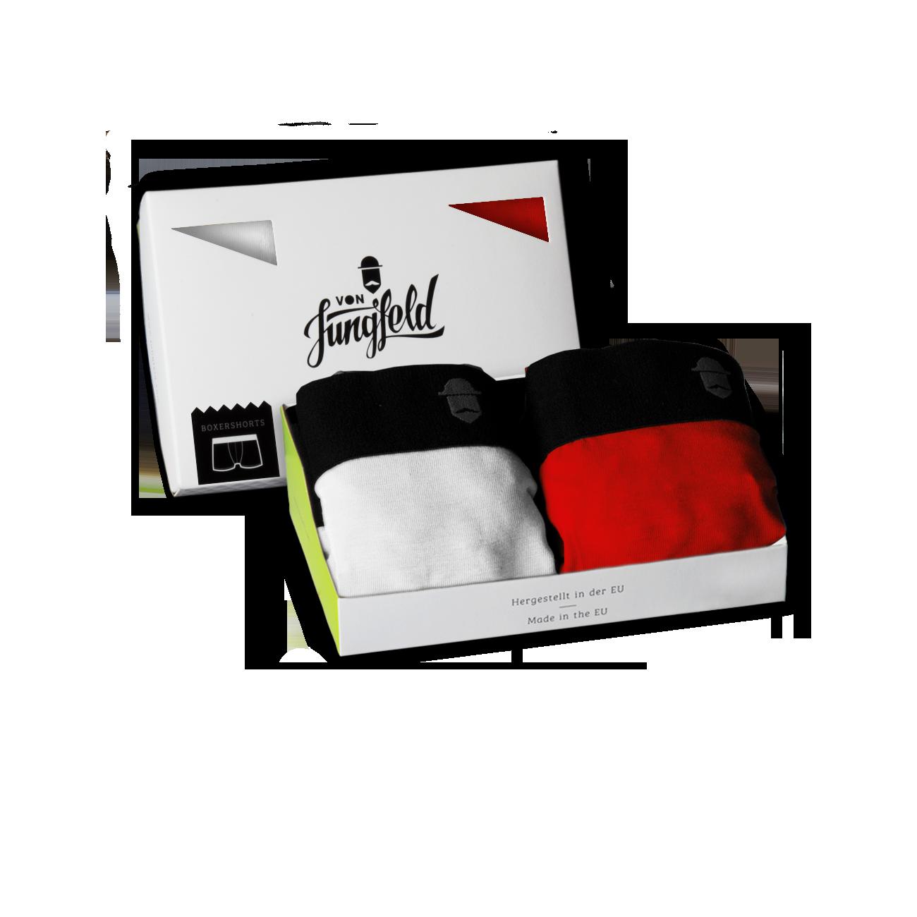 2er box arktis navarra boxershorts von jungfeld bunte und farbige herrensocken und. Black Bedroom Furniture Sets. Home Design Ideas